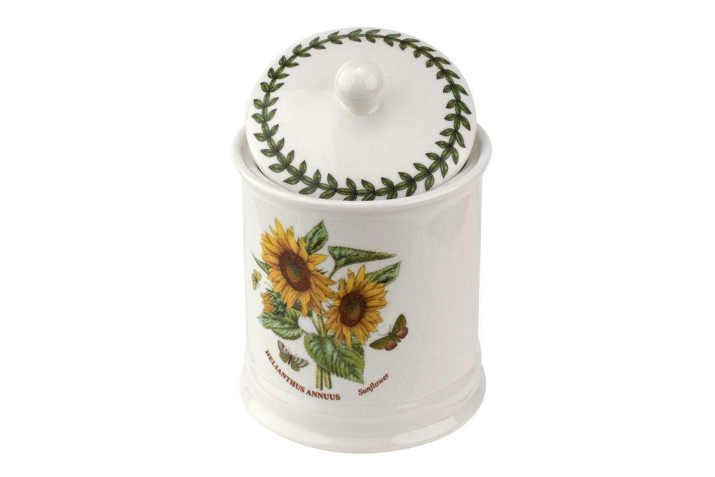 "Portmeirion Botanic Garden Storage Jar + Lid Sunflower 4 x 5 3/4"" thumb 2"