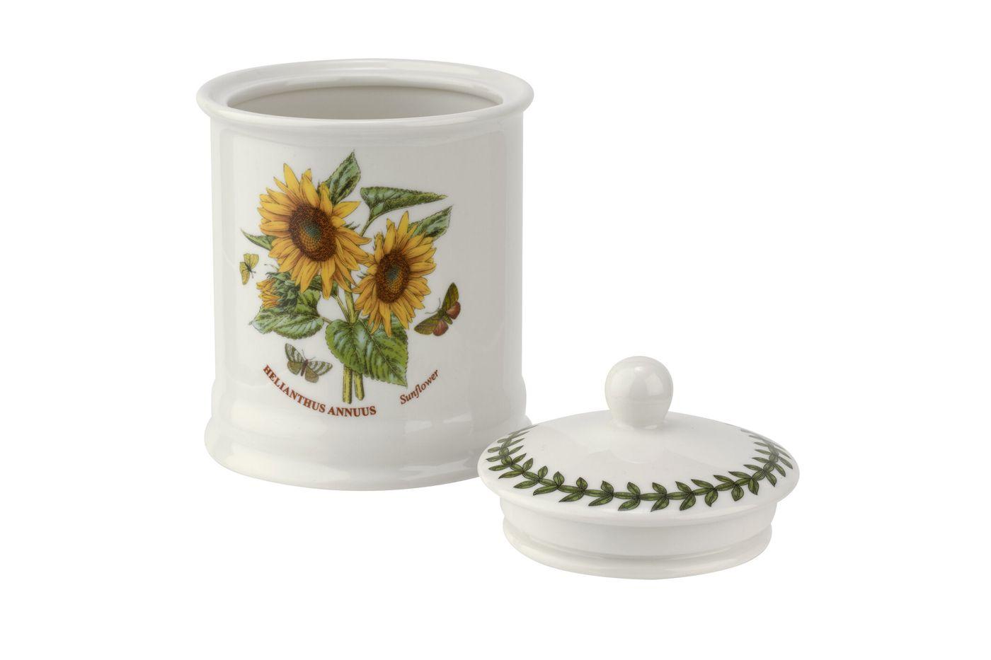 "Portmeirion Botanic Garden Storage Jar + Lid Sunflower 4 x 5 3/4"" thumb 3"