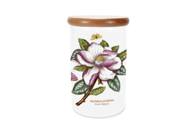 Portmeirion Botanic Garden Storage Jar + Lid Airtight - Asiatic Magnolia 12.5 x 19.5cm