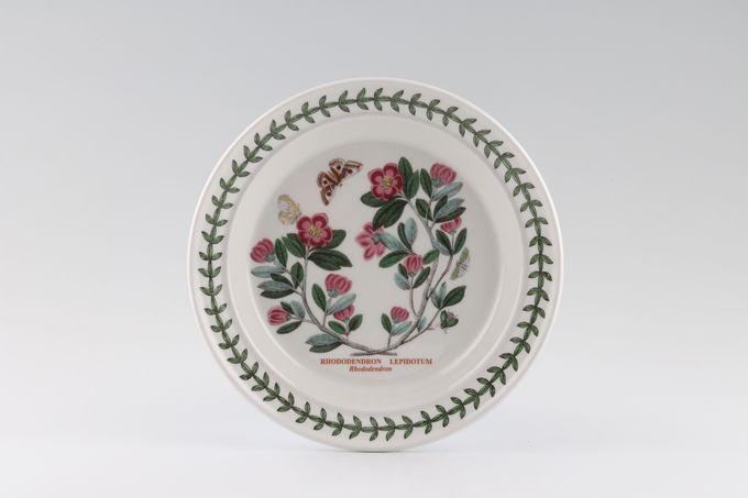 """Portmeirion Botanic Garden Tea / Side Plate Rhododendron Lepidotum - Named 7 1/4"""""""