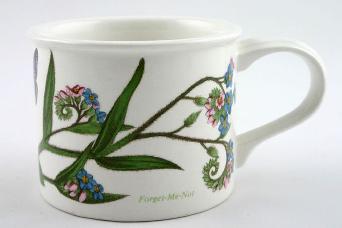 """Portmeirion Botanic Garden Teacup Drum Shape - Myosotis Palustris - Forget -Me -Not - Named 3 1/4 x 2 5/8"""""""