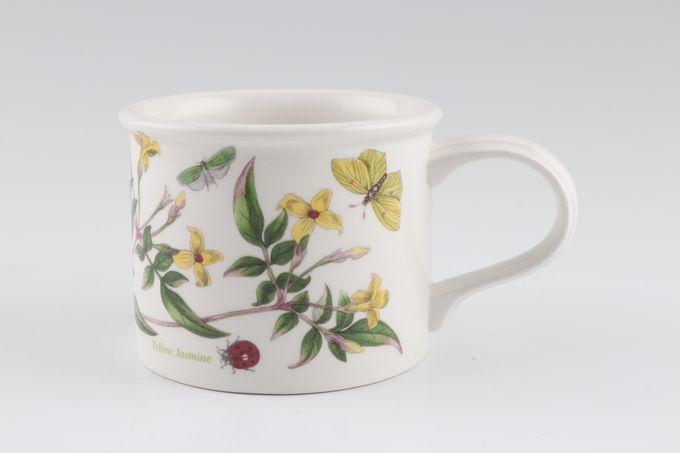 "Portmeirion Botanic Garden Teacup Drum Shape - Jasminum Revolutum - Yellow Jasmine - Named 3 1/4 x 2 5/8"""