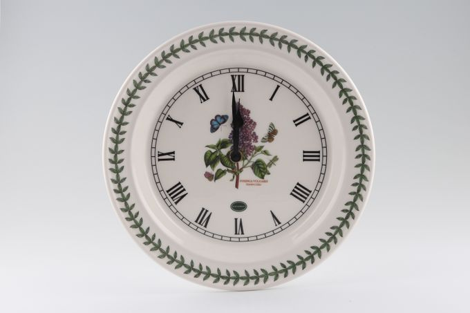 """Portmeirion Botanic Garden Clock Wall Clock. Syringa Vulgaris - Garden Lilac 10 1/2"""""""