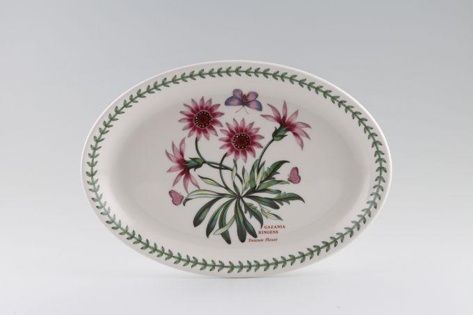 """Portmeirion Botanic Garden Oval Plate / Platter Gazania Ringens - Treasure Flower 10 3/4"""""""