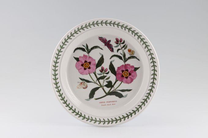 "Portmeirion Botanic Garden Salad/Dessert Plate Cistus Purpureus - Purple Rock Rose - named 8 1/2"""