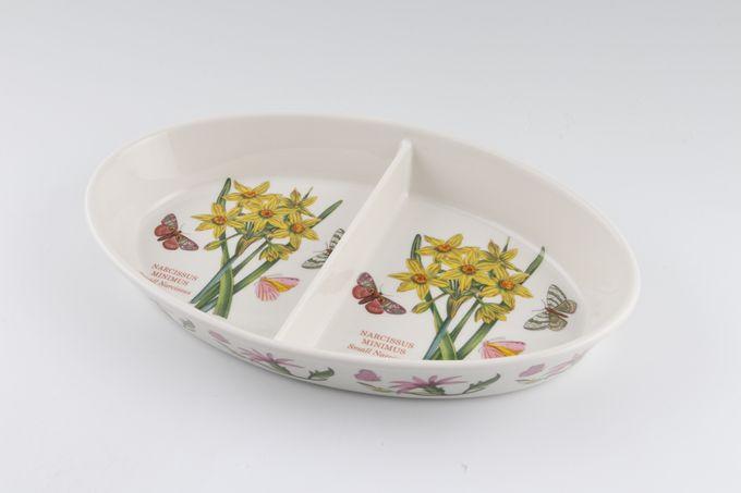 Portmeirion Botanic Garden Vegetable Dish (Divided) Narcissus Minimus small narcissus