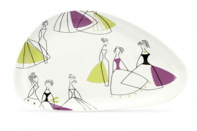 Portmeirion Fifi Starter / Salad / Dessert Plate Shaped 21.5cm