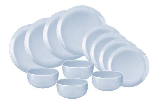 Portmeirion Choices 12 Piece Set Blue - 4 x 27cm Plate, 4 x 21cm Plate, 4 x 14.5cm