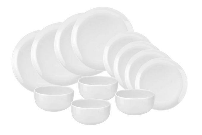 Portmeirion Choices 12 Piece Set White - 4 x 27cm Plate, 4 x 21cm Plate, 4 x 14.5cm