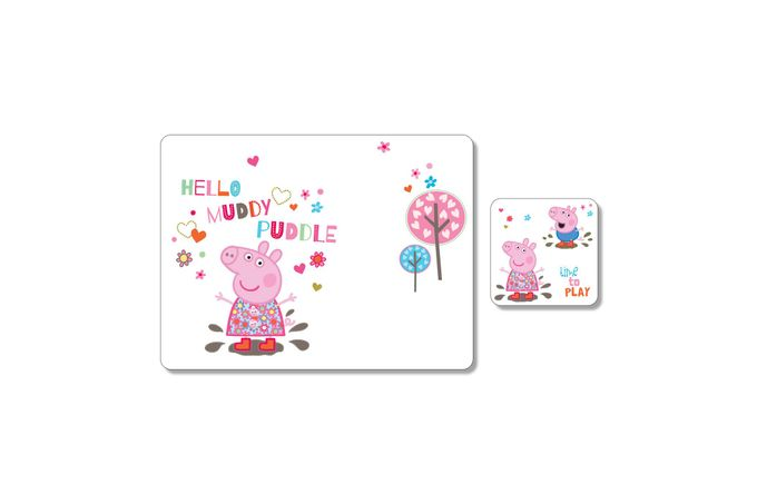 Portmeirion Peppa Pig Placemat and Coaster