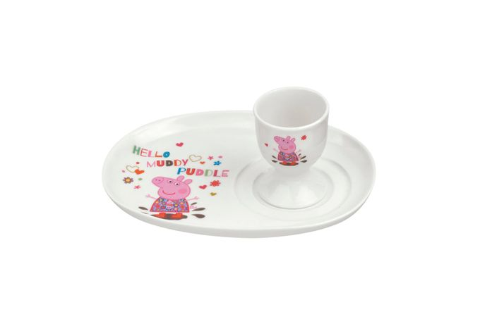 Portmeirion Peppa Pig Egg Cup & Soldier Set