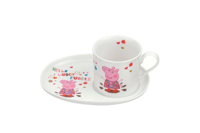 Portmeirion Peppa Pig 2 Piece Set Mug 0.2L, Snack Plate 18cm