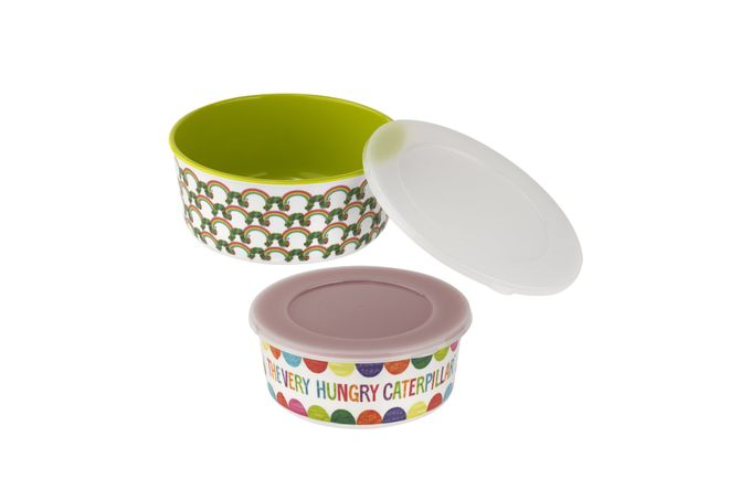 Portmeirion The Very Hungry Caterpillar by Eric Carle Melamine Storage Tubs Set of 2