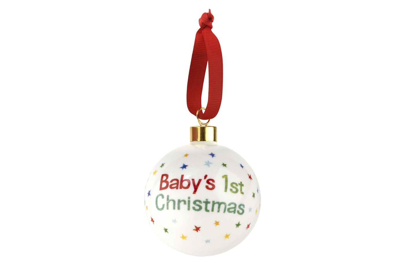 Portmeirion The Very Hungry Caterpillar by Eric Carle Bauble Baby 1st Xmas thumb 1