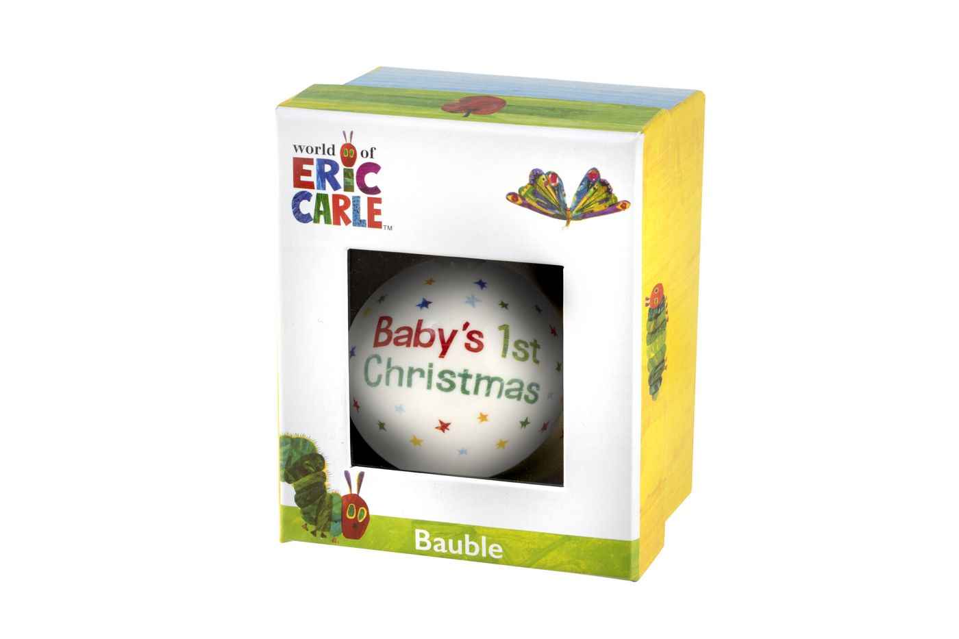 Portmeirion The Very Hungry Caterpillar by Eric Carle Bauble Baby 1st Xmas thumb 3
