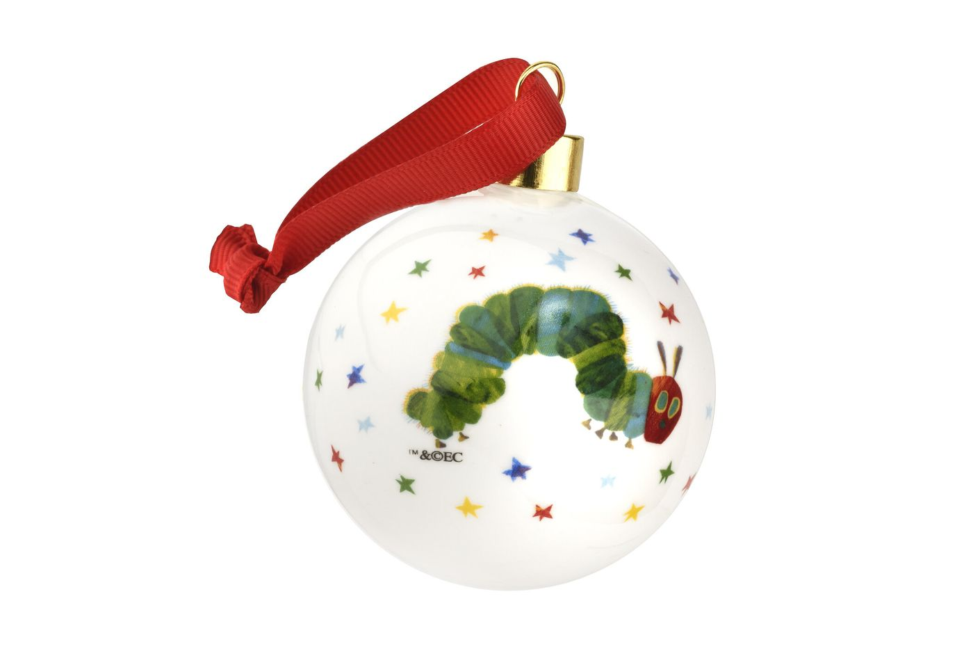 Portmeirion The Very Hungry Caterpillar by Eric Carle Bauble Baby 1st Xmas thumb 4