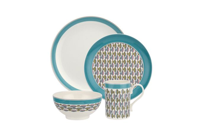 Portmeirion Westerly - Turquoise Band 4 Piece Set