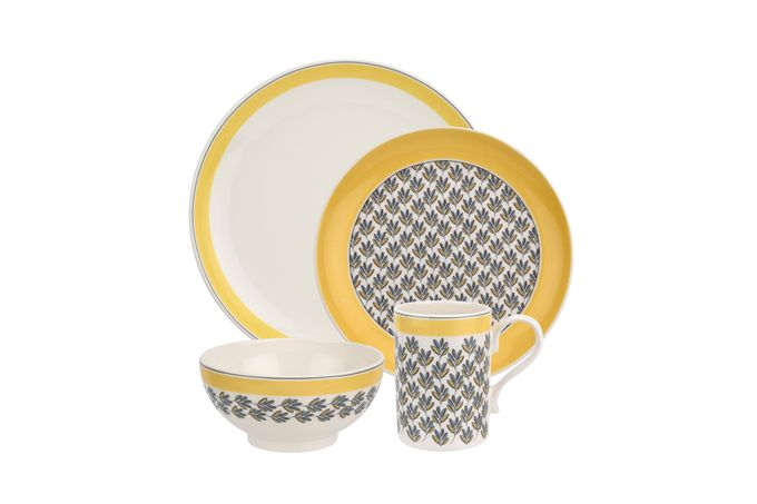 Portmeirion Westerly - Yellow Band 4 Piece Set