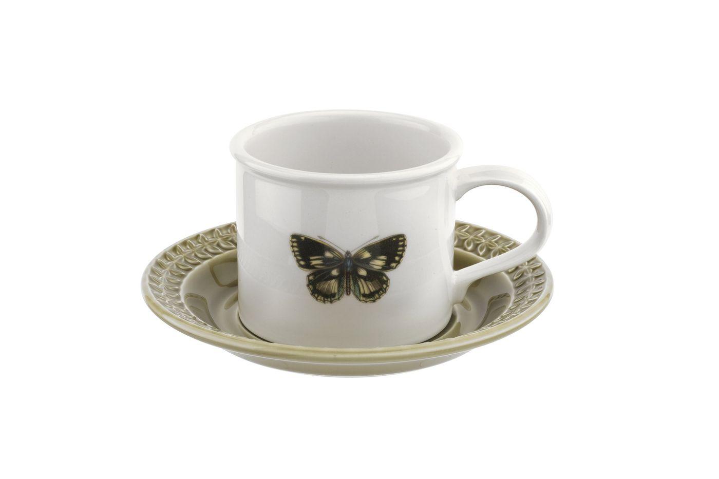 Portmeirion Botanic Garden Harmony Breakfast Cup & Saucer Moss Green 260ml thumb 1