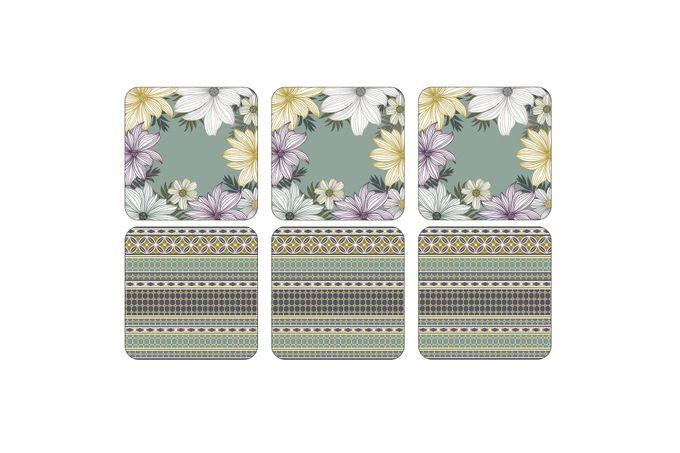 Portmeirion Atrium Coasters - Set of 6 10.5 x 10.5cm