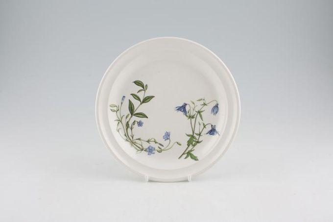 "Portmeirion Queens Hidden Garden Tea / Side / Bread & Butter Plate Aquilegia, Forget me not 7 1/4"""