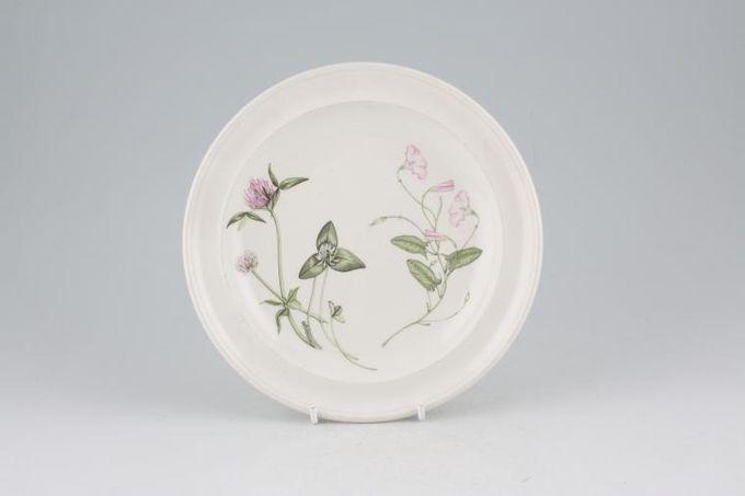"""Portmeirion Queens Hidden Garden Tea / Side / Bread & Butter Plate Clover, Pink Mallow 7 1/4"""""""