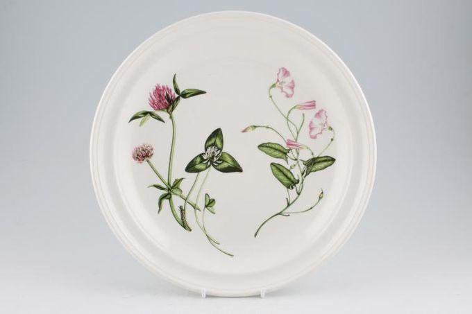 """Portmeirion Queens Hidden Garden Dinner Plate Clover, Pink Mallow 10 3/8"""""""