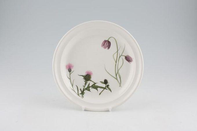 "Portmeirion Queens Hidden Garden Tea / Side / Bread & Butter Plate Thistle, Snakes Head Fritillary 7 1/4"""