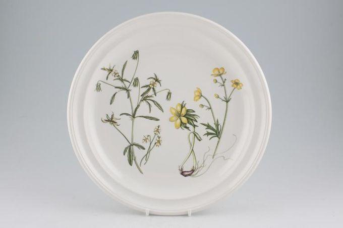 """Portmeirion Queens Hidden Garden Dinner Plate Buttercups 10 3/8"""""""