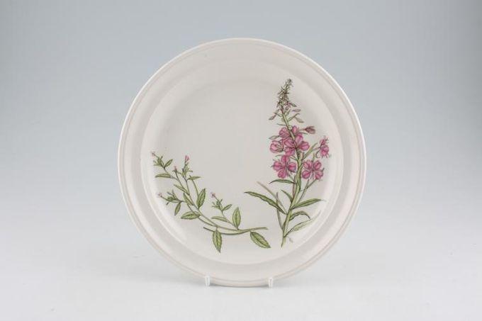 """Portmeirion Queens Hidden Garden Starter / Salad / Dessert Plate Rosebay Willow Herb 8 1/2"""""""
