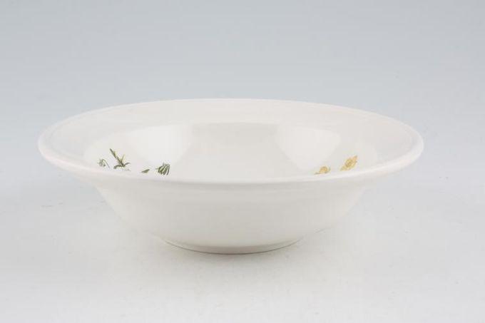 """Portmeirion Queens Hidden Garden Rimmed Bowl Buttercups 6 5/8"""""""