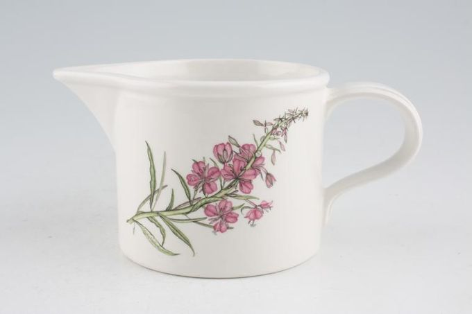 Portmeirion Queens Hidden Garden Milk Jug Drum Shape / Rosebay Willow Herb 1/2pt