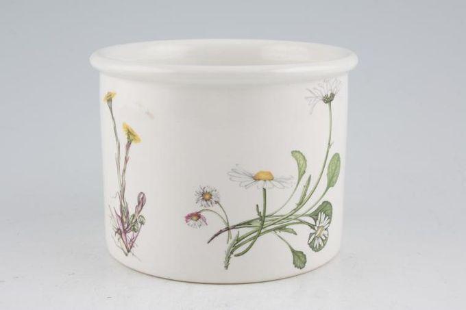 "Portmeirion Queens Hidden Garden Plant Holder Daisy and Calendula 4 1/4 x 3 1/4"""