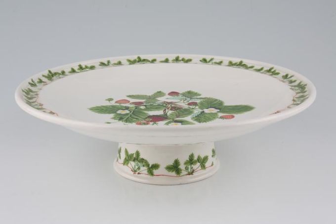 """Portmeirion Summer Strawberries Comport Footed 10 1/2"""""""
