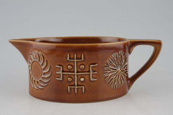 Portmeirion Totem Brown Sauce Boat