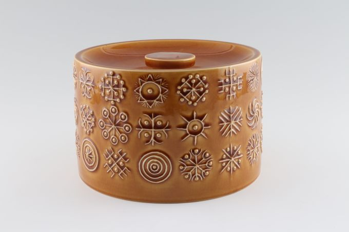 """Portmeirion Totem Brown Cheese Dish Lid 7 5/8"""""""