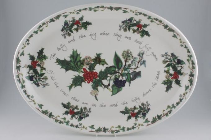 Portmeirion The Holly and The Ivy Oval Plate / Platter Turkey Platter 20 1/4""