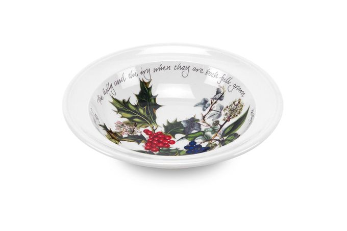 Portmeirion The Holly and The Ivy Oatmeal / Cereal / Soup Rimmed 6 3/4""