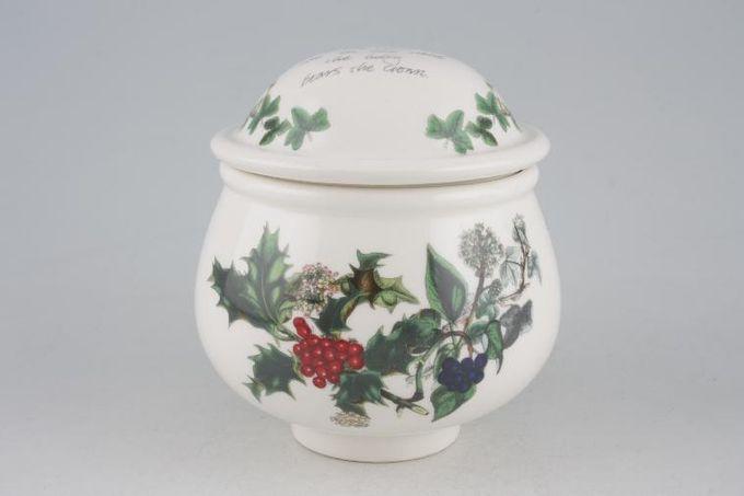 """Portmeirion The Holly and The Ivy Sugar Bowl - Lidded (Tea) 3 1/4 x 3"""""""