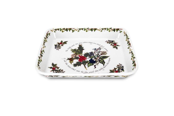 """Portmeirion The Holly and The Ivy Lasagne Dish 12 1/4 x 9 3/4"""""""