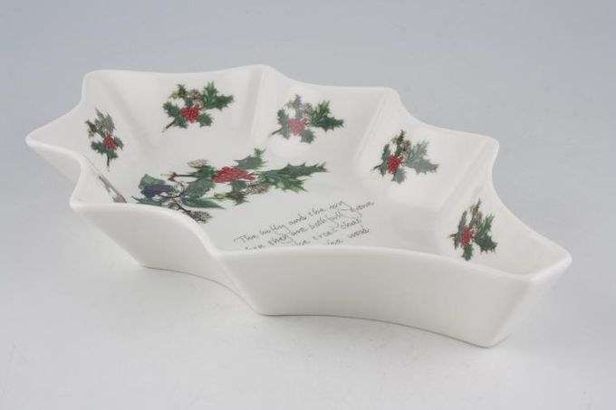 """Portmeirion The Holly and The Ivy Serving Dish Leaf shape 10"""""""