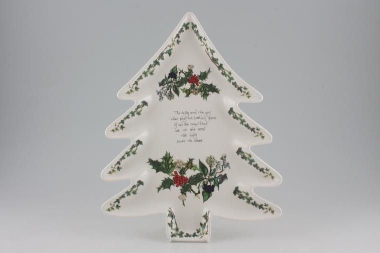 Portmeirion The Holly And The Ivy Serving Dish 13 Christmas Tree Shape
