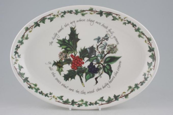"""Portmeirion The Holly and The Ivy Oval Plate / Platter 10 5/8"""""""