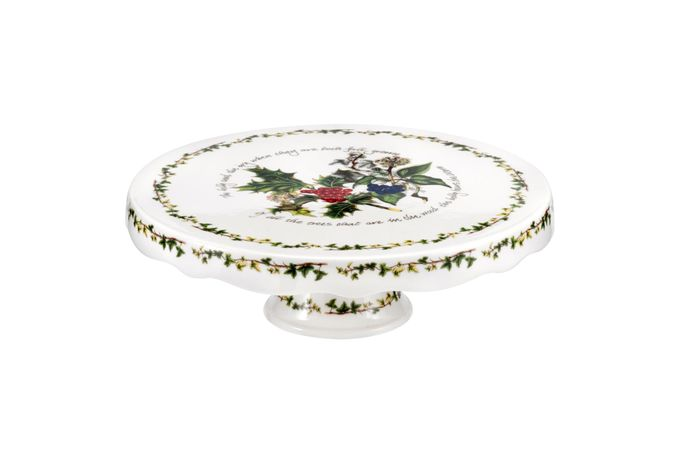 Portmeirion The Holly and The Ivy Cake Stand Scalloped Footed Cake Stand