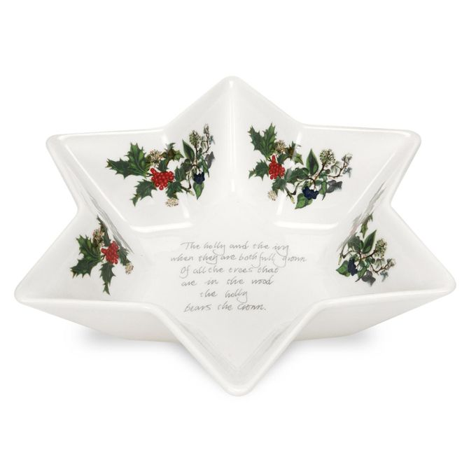 Portmeirion The Holly and The Ivy Serving Dish Deep Star Dish