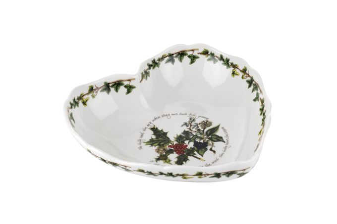 Portmeirion The Holly and The Ivy Dish (Giftware) Heart Shaped Dish