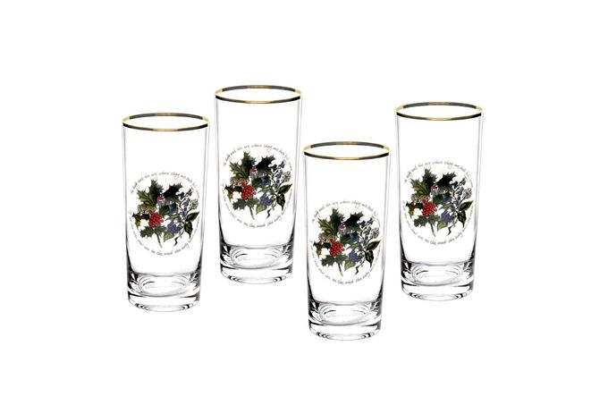 Portmeirion The Holly and The Ivy Highball Set of 4