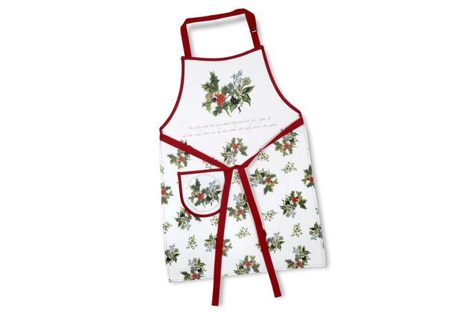 Portmeirion The Holly and The Ivy Apron Cotton Drill Apron