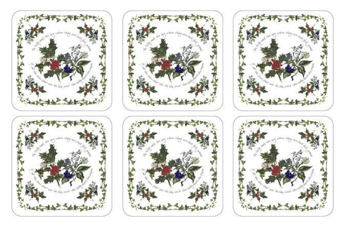 Portmeirion The Holly and The Ivy Coaster Set of 6