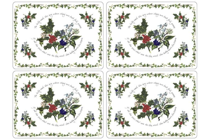 Portmeirion The Holly and The Ivy Placemat Set of 4